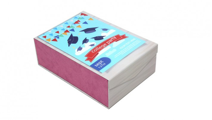 高档磁铁彩印覆膜烫金硬纸板PU 可折叠包装礼盒